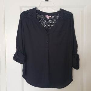 Candies black work blouse with lace size Medium